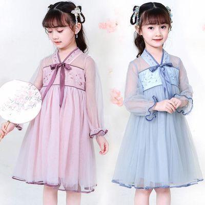 汉服女童夏装古装齐胸襦裙唐装童装中国风复古连衣裙唐