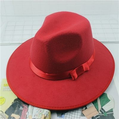 新款上海滩男士大沿礼帽结婚帽子表演新郎摄影道具爵士帽宽檐大沿