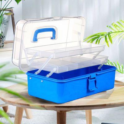 收纳箱塑料医药箱家用大号折叠储物整理箱美甲美术绘画工具箱盒子