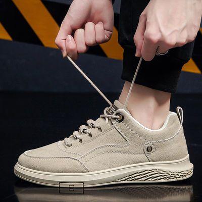 男鞋真皮透气英伦潮流韩版百搭休闲鞋男士板鞋户外防滑软底运动鞋