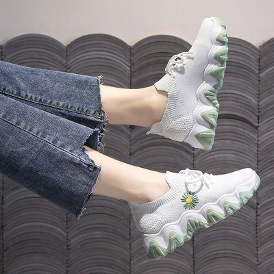 ins袜子鞋女2020新款夏季学生飞织网面透气松糕老爹鞋休闲运动鞋