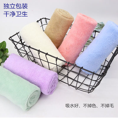 [1-6条装]毛巾儿童成人男女洗脸巾青春派高密珊瑚绒超柔软强吸水