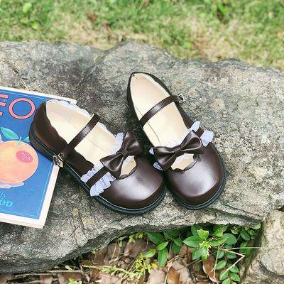 新款Lolita鞋低跟梅露露日系茶会软妹圆头女学生鞋单鞋女洛丽塔鞋