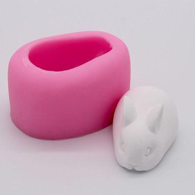 网红小兔子布丁模具硅胶立体奶冻果冻雪糕慕斯蛋糕模具小白兔
