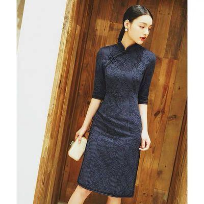 改良版旗袍裙春夏新式中长款连衣裙中年女妈妈装中国风优雅年轻款