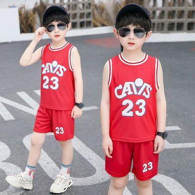 儿童篮球服套装男女童宝宝幼儿园球服夏季短袖球衣速干男孩两件套