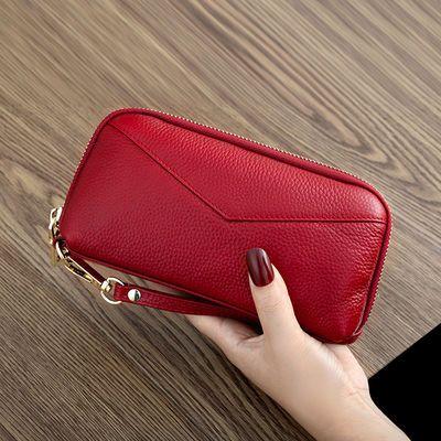 新款真皮手包女款手抓包大容量手机包拉链钱包女士牛皮长款手拿包