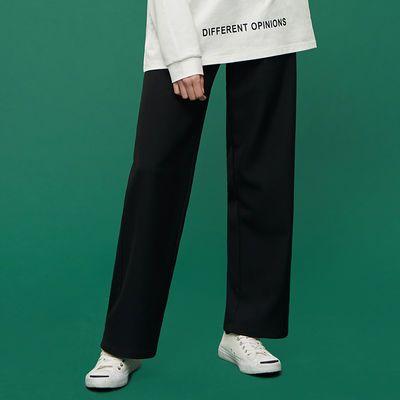 【新款】黑色西装裤女学生韩版直筒宽松显瘦阔腿裤九分春夏季裤子