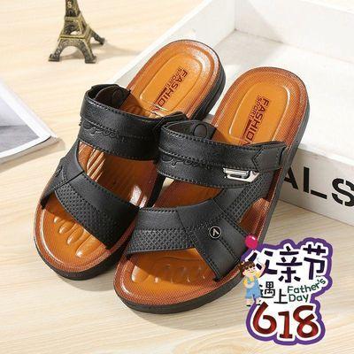 2020夏新款男士凉鞋休闲越南凉拖户外防滑透气耐用沙滩鞋厂家直销