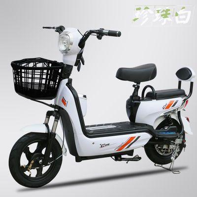 新款成人电动自行车长跑王48V 男女小型助力双人锂电电瓶车代步车