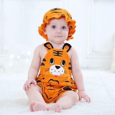 宝宝连体衣夏动物造型衣新生儿哈衣纯棉爬服西瓜衣服男女婴儿夏装