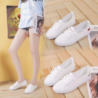 2020夏新款薄款透气小白鞋学生韩版休闲单鞋百搭平底浅口女板鞋
