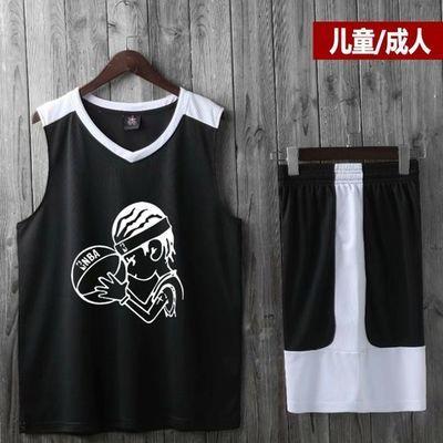 新款路人王篮球服套装男儿童短袖小学生夏天篮球训练队服球衣定制