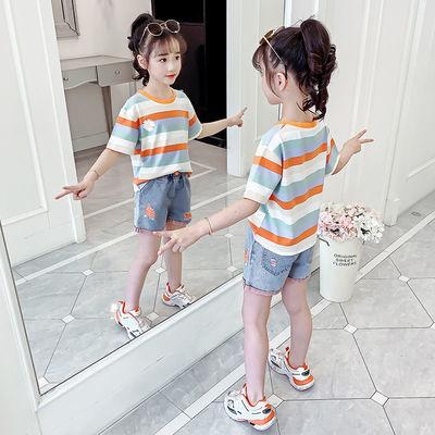 女童夏装洋气套装2020新款儿童网红短袖两件套夏季女孩时髦童装潮