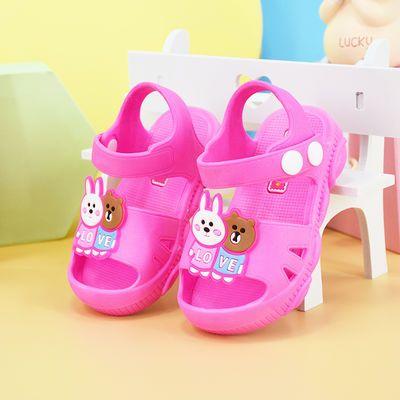 1-3岁婴儿居家学步鞋夏男女童宝宝外穿软底防水防滑小孩沙滩凉鞋