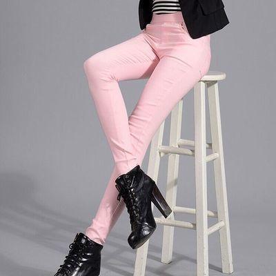 【彩色打底裤女】夏季爆款弹力小脚裤女高腰魔术裤薄款九分长裤子