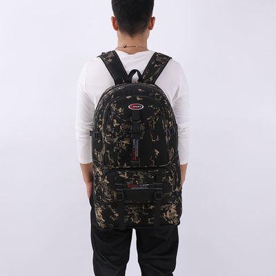 60升户外登山包男超大容量复古帆布双肩包旅行包行李背囊女运动包