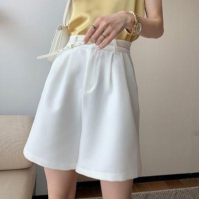 爆款白色短裤女夏高腰西装五分裤子女学生韩版宽松直筒阔腿休闲裤