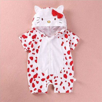 爆款宝宝连体衣造型衣夏季婴儿哈衣3-6-12月新生儿爬服拍照服西瓜