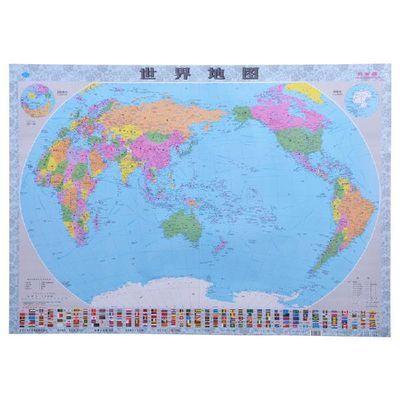 【特价】2019新版中国世界地图墙贴画行政教学用高清大号办公装饰