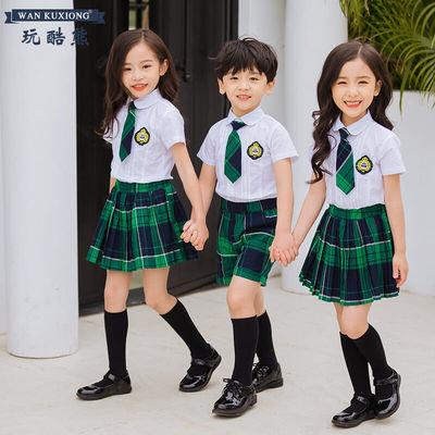 玩酷熊酷派幼儿园园服夏装校服套装儿童装小学生毕业服班服两件套