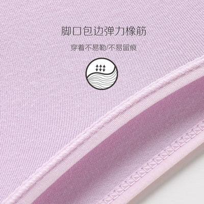 红豆女士内裤纯棉底裆棉质面料少女大码性感中腰三角裤4条礼盒装