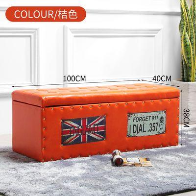 欧式换鞋凳实木家用门口鞋店储物凳长方形沙发凳子收纳凳皮面凳子