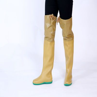 男女款过膝超高筒下水裤雨靴雨鞋防水靴插秧靴钓捕鱼涉水鞋工作靴