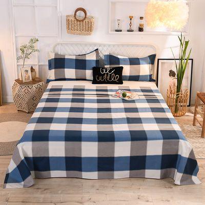 【精品床单 枕套】加厚斜纹磨毛三件套学生宿舍1.2床-2.0床可选择