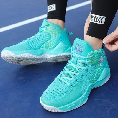 新款夏季篮球鞋男高帮战靴网布透气防滑耐磨学生青少年实战运动鞋