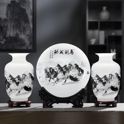 景德镇陶瓷花瓶中式家居插花水培瓷器装饰品客厅酒柜创意小摆件