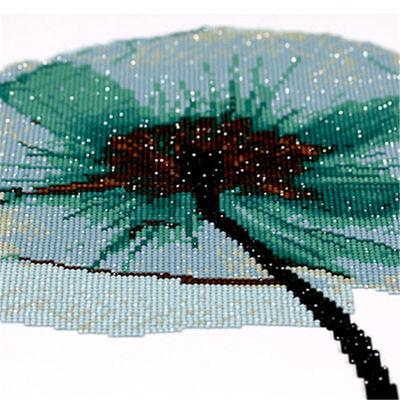 蒙娜丽莎十字绣郁金香三联画新款客厅餐厅卧室简约现代5D钻石画绣