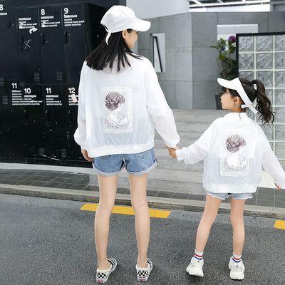 爆款儿童亲子装防晒衣2020夏装洋气母女装女童宽松外套轻薄透气皮