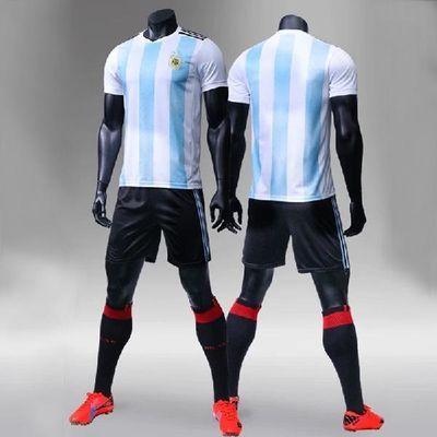 世界杯足球服套装男定制儿童足球衣俱乐部阿根廷法国巴萨皇马球服