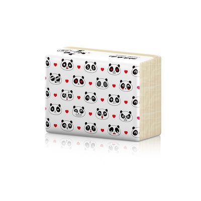 4层30包植护竹浆本色纸巾抽纸爱心熊猫卫生纸整箱批发家庭装包邮