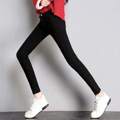 打底裤女外穿薄款九分魔术小脚裤2020夏季新款黑色八分裤女小个子