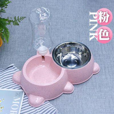 猫咪自助喂食器自动饮水机猫食碗宠物饮水器不湿嘴双碗狗盆防打翻