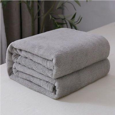 四季铺床被子沙发毯子纯色毛毯法兰绒床单珊瑚绒素色盖毯空调毯