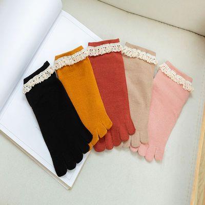 【3/6双装】纯棉五指袜女士春夏秋袜子纯棉中短筒全棉防臭五指袜