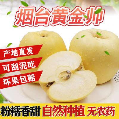 黄元帅苹果山东烟台栖霞黄金奶油富士苹果整箱包邮黄香蕉刮泥水果