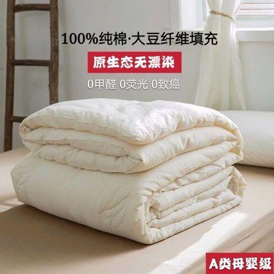 A类全棉大豆纤维被冬被纯棉被子四季空调被单人夏被双人春秋被芯