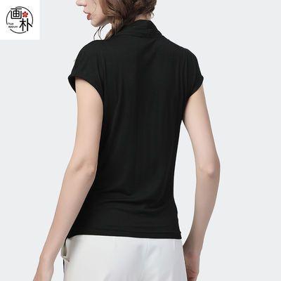 画朴欧洲站短袖雪纺衫收腰修身上衣女春夏装2020新款轻薄时尚小衫