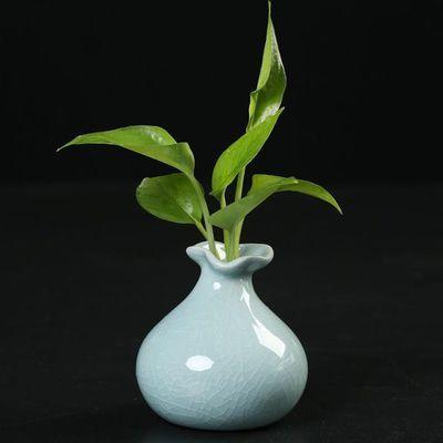热销创意陶瓷花瓶摆件客厅插花绿萝水培花瓶桌面茶几装饰品ins小