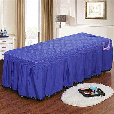 热销单床罩美容床罩按摩床床罩床裙方头圆头特价包邮美体床罩带洞