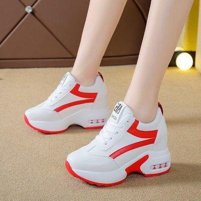 内增高鞋子女韩版学生2020春季新款网红百搭透气休闲旅游运动鞋女