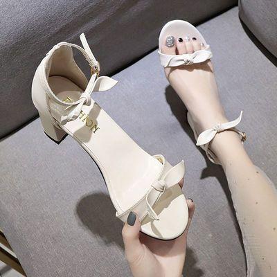 清仓特价凉鞋女夏季新款学生韩版百搭高跟鞋原宿风鞋子露趾女鞋