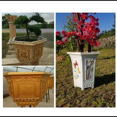 热销六角花盆模具现浇水泥手工自制盆栽园林景观欧式罗马别墅花园
