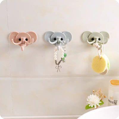 创意可爱大象壁挂粘钩厨房浴室免钉门后挂钩多用强力粘胶无痕粘钩
