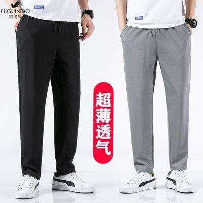 富贵鸟休闲裤子男夏季薄款宽松潮流束脚裤中老年男士直筒短裤男装