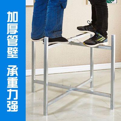 热销简易大圆桌架可折叠铁艺桌腿支架桌脚餐桌折叠伸缩桌架桌脚架